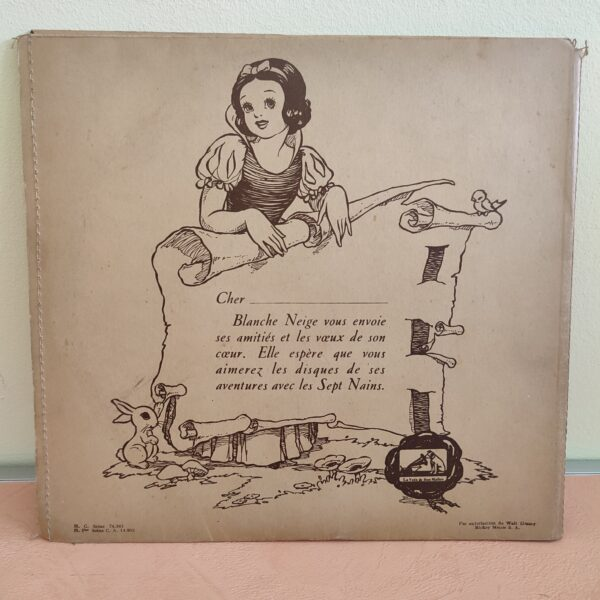 Disque gramophone Blanche Neige