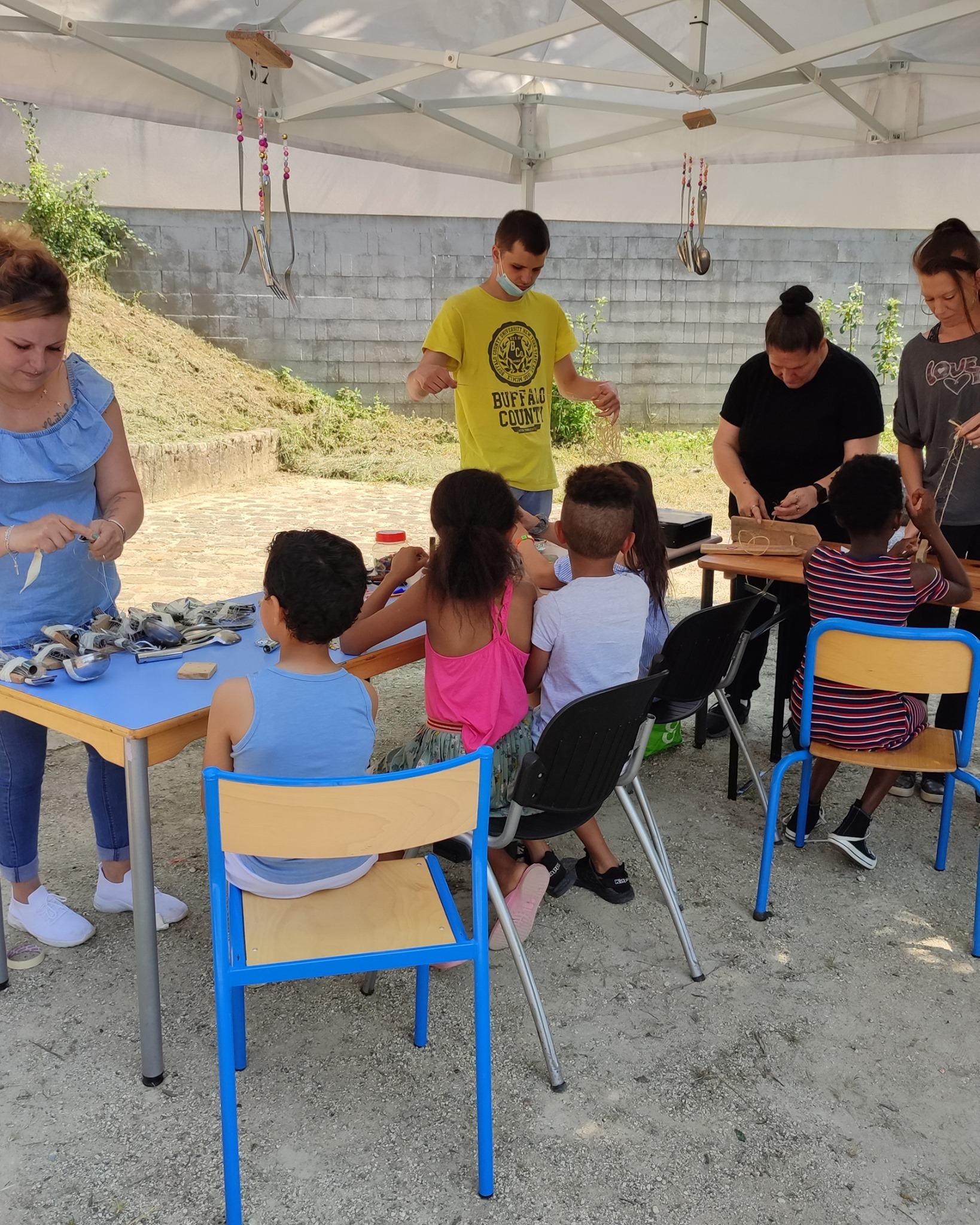 Enfants de quartier activités recyclerie noyon