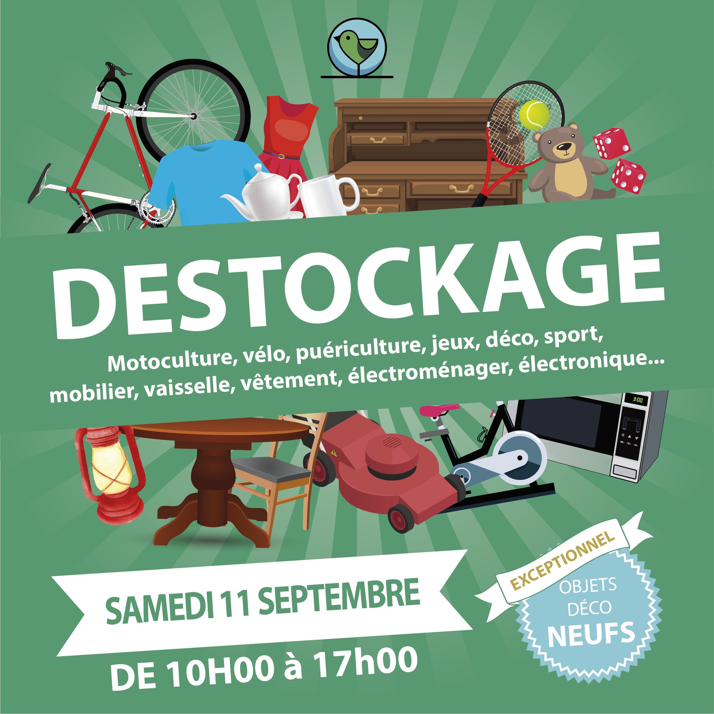 Vente Spéciale Destockage 11 Septembre 2021