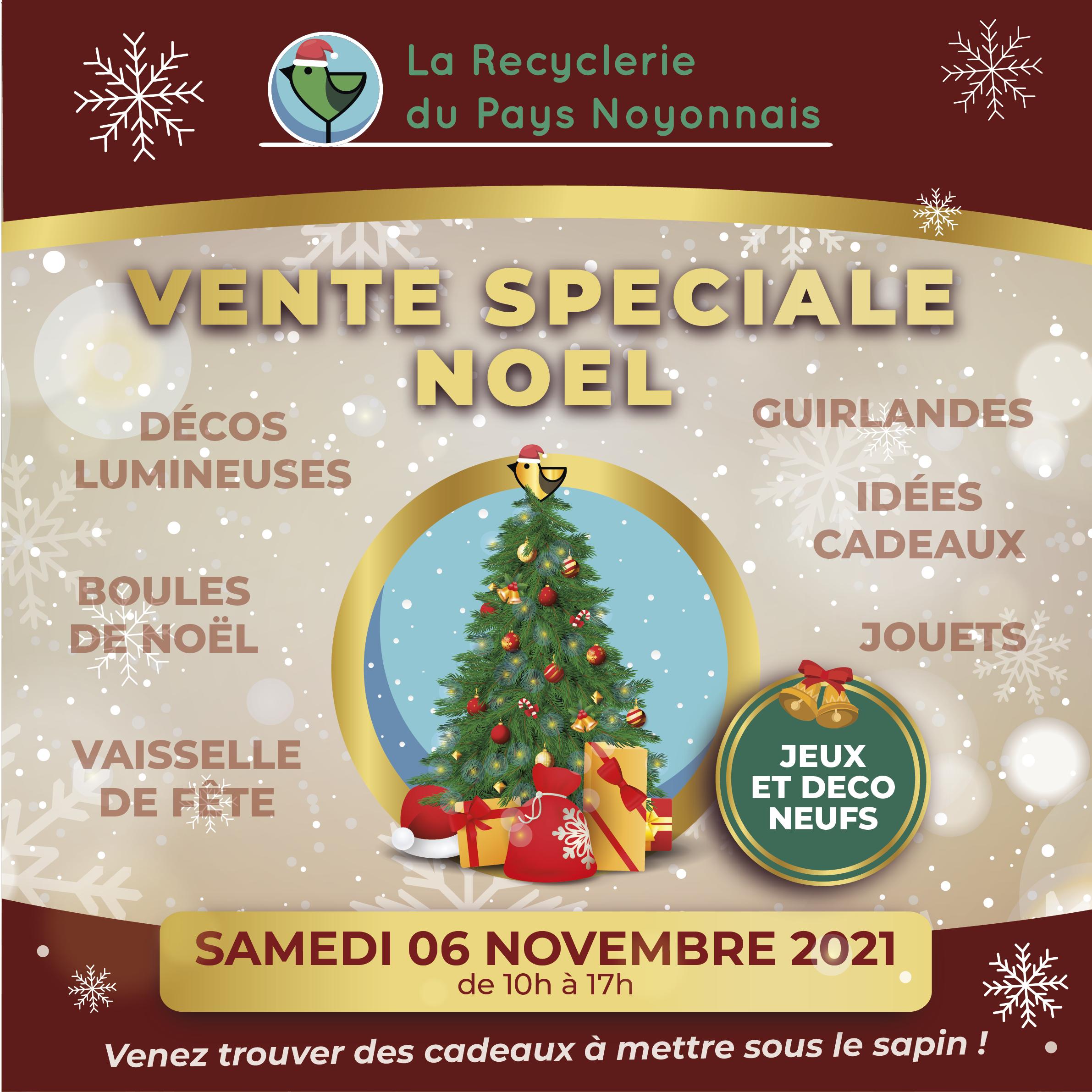 Vente Spéciale Noel le 06 Novembre 2021